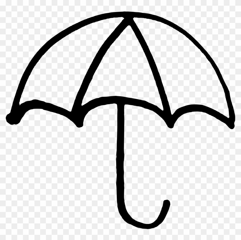 Clipart Umbrella Revolution Symbol - Umbrella Black And White #49825