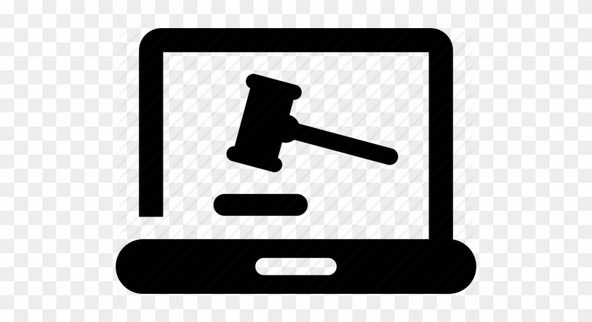 Auction Computer Gavel Judgement Law Legal Online Online Law Icon Free Transparent Png Clipart Images Download