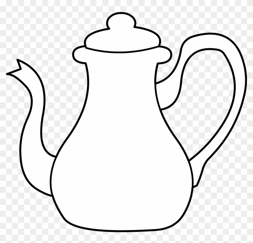 White Tea Pot Clipart #49936