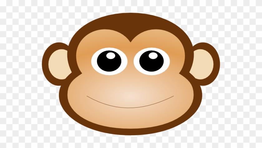 Monkey Mask Clipart - Monkey Face Cartoon #50028