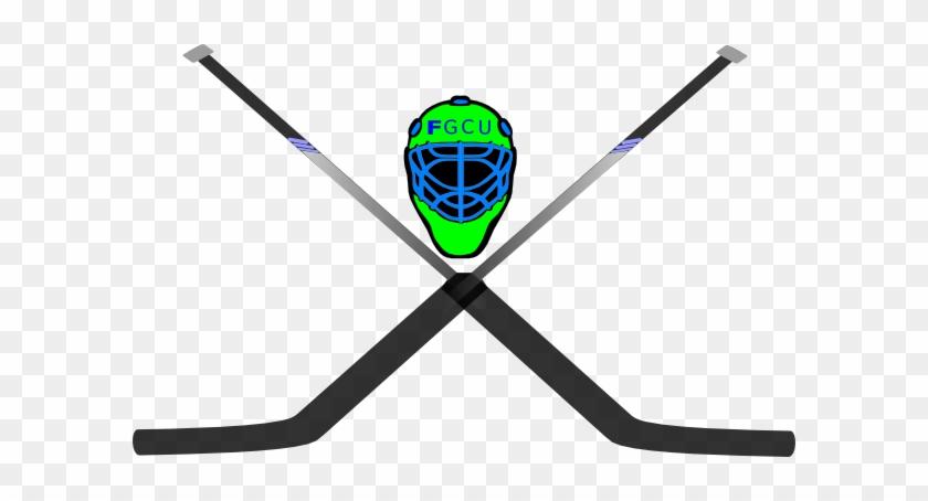 Two Hockey Sticks Crossed #50162