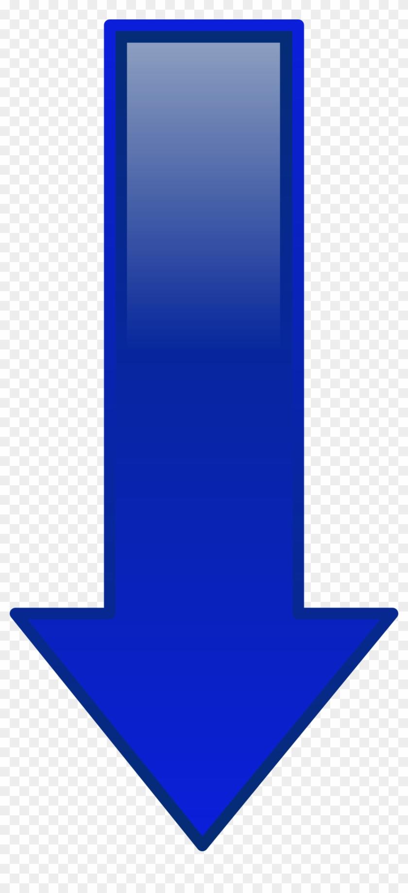 Free Vector Arrow Down Blue Clip Art - Blue Down Arrow Jpg #50181