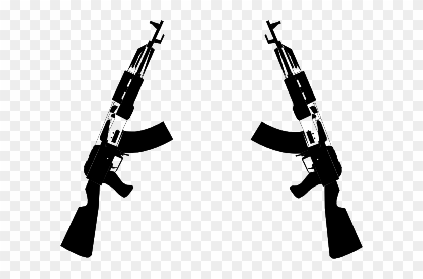 Clipart Info - Guns Crossed Transparent Background #50406