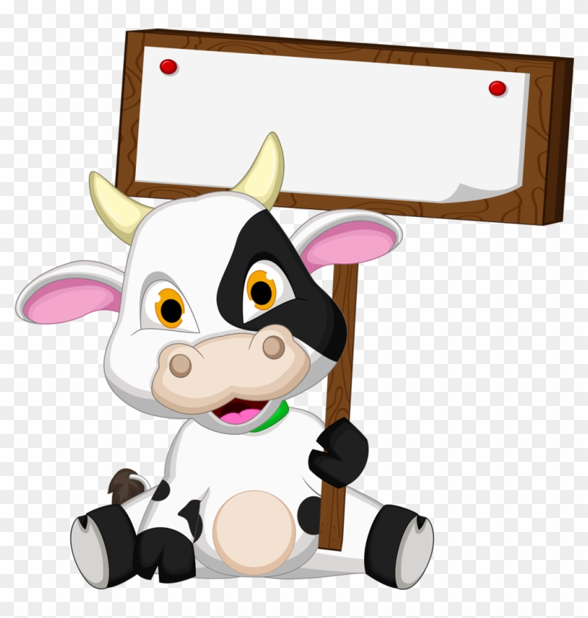 Cow - Animal Name Tag Templates #51343