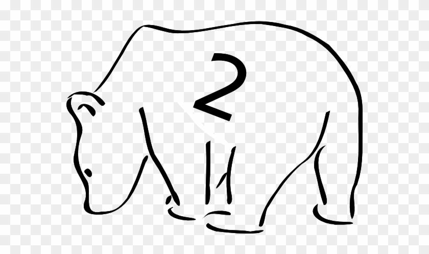 Polar Bear Clip Art Free - Black And White Outline Of A Bear #51531