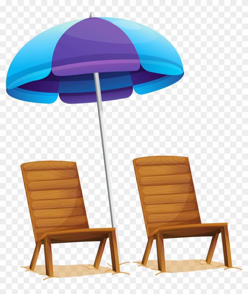 Umbrella Chair Cliparts Free Download Clip Art Free - Beach Umbrella Clipart Transparent #51554