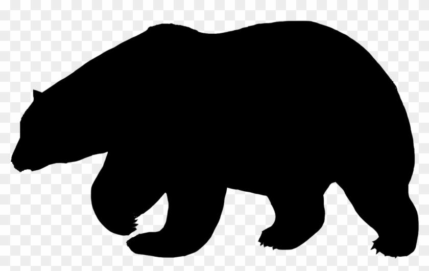 Polar Bear Flock Amp Applique Pinterest Polar Bear, - Polar Bear Silhouette Png #51599
