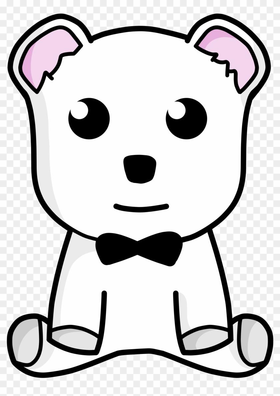 Snow Teddy Bear - Custom White Teddy Bear Shower Curtain #51763