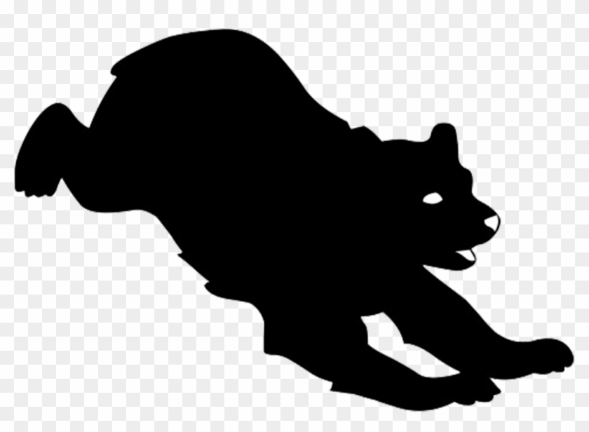 Animal Silhouette, Silhouette Clip Art - Silhouette Bear Png #51779