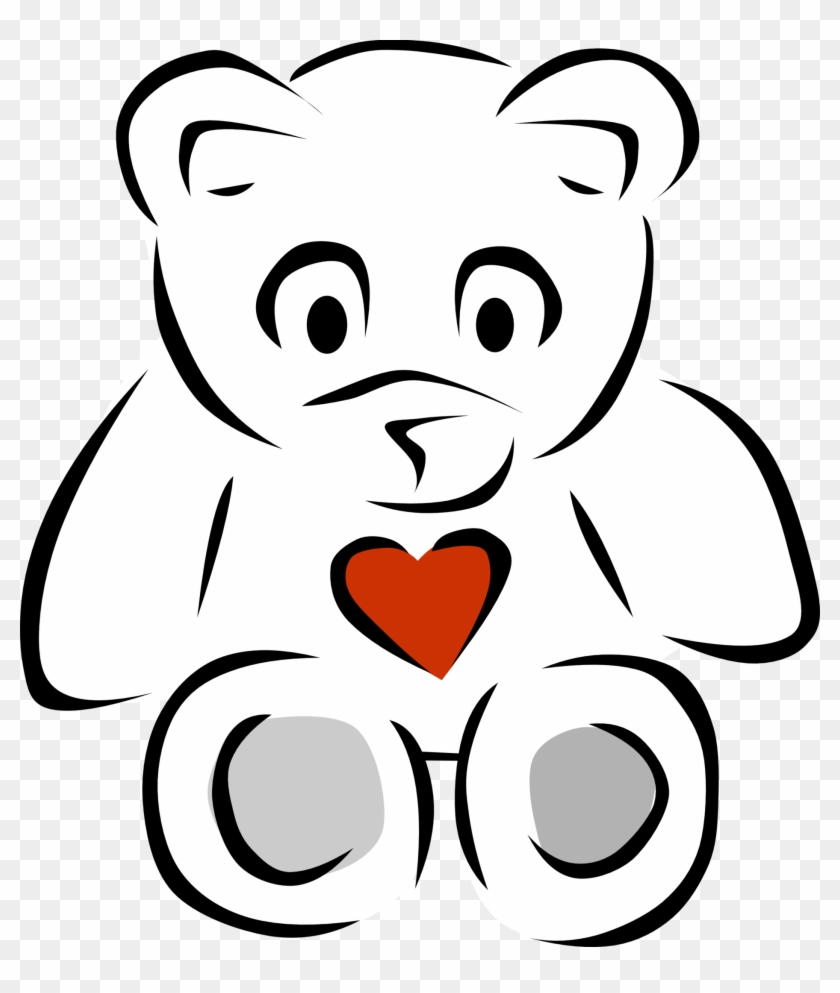 Teddy Bear Black And White Black And White Pictures - Teddy Bear Line Art #51822