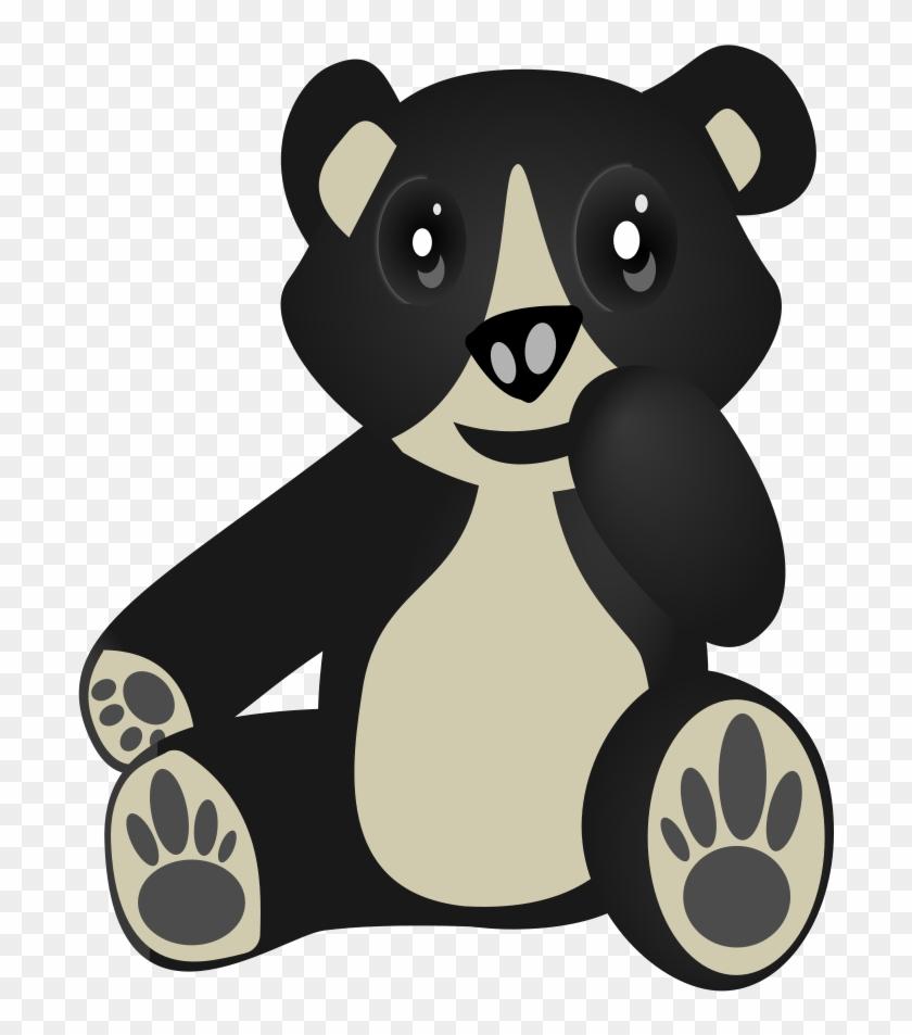 Black Bear Clipart Oso - Custom Teddy Bear Shower Curtain #51897