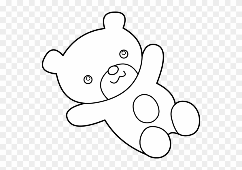 Bear Black And White Teddy Bear Pic Black And White - Teddy Bear Coloring Clipart #51919