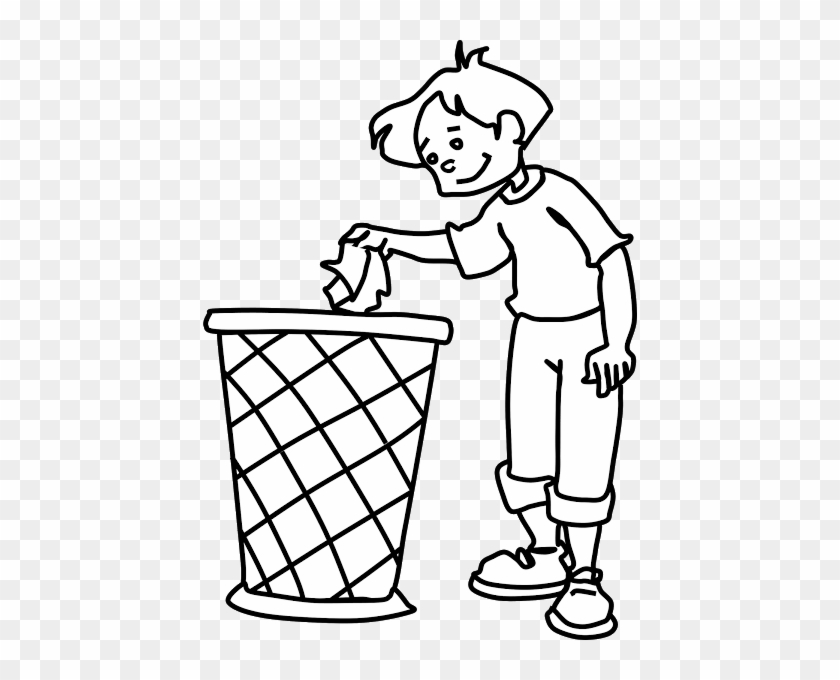 Use The Dustbin Clipart - Earth Day Coloring Pages #51933