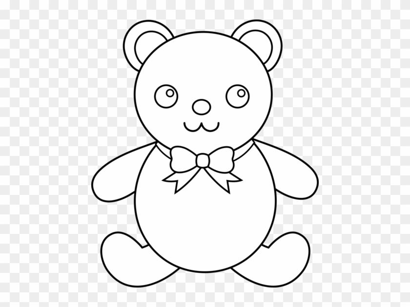 Teddy Bear Black And White Teddy Bear Clip Art Black - Teddy Bear Outline #51939