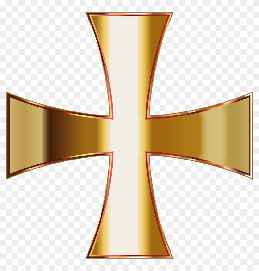 Big Image - Transparent Background Gold Cross Png #52277