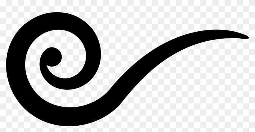 Corner Swirls Clipart Free Clipart Image Image - Swirl Black And White #52328