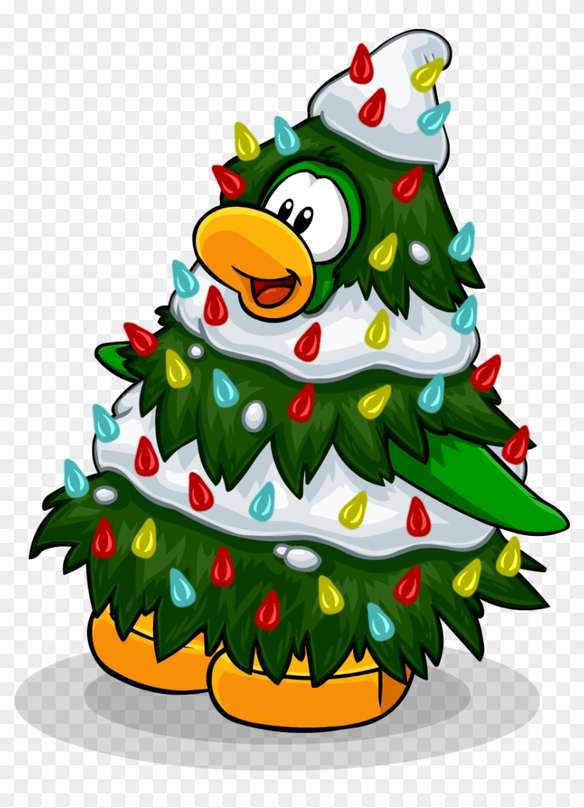 Holidays - Christmas Tree Club Penguin #52375