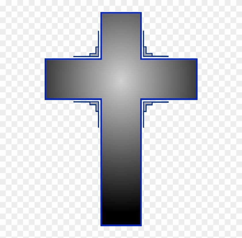 Cross Iii Clipart, Vector Clip Art Online, Royalty - Cross On Transparent Background #52401