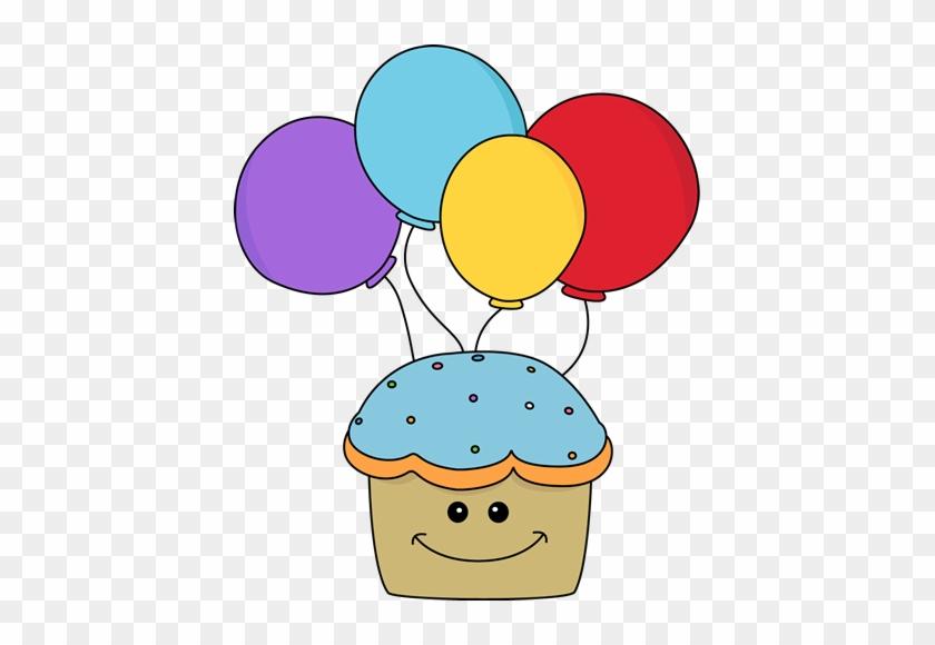 Happy Cupcake Clipart - Cute Birthday Clipart #52560