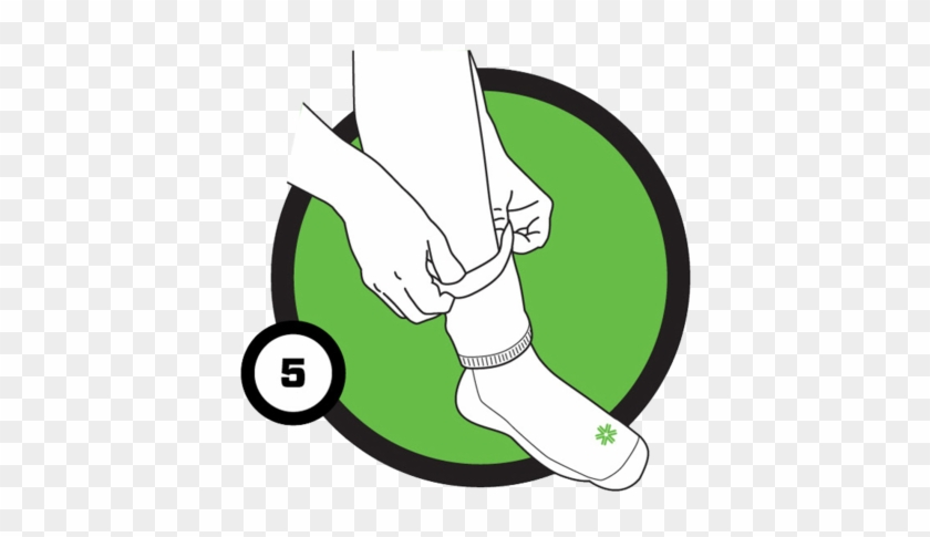 Now Pull The Opening Of The Sock Over Your Foot And - Putting On A Sock Clipart #52638