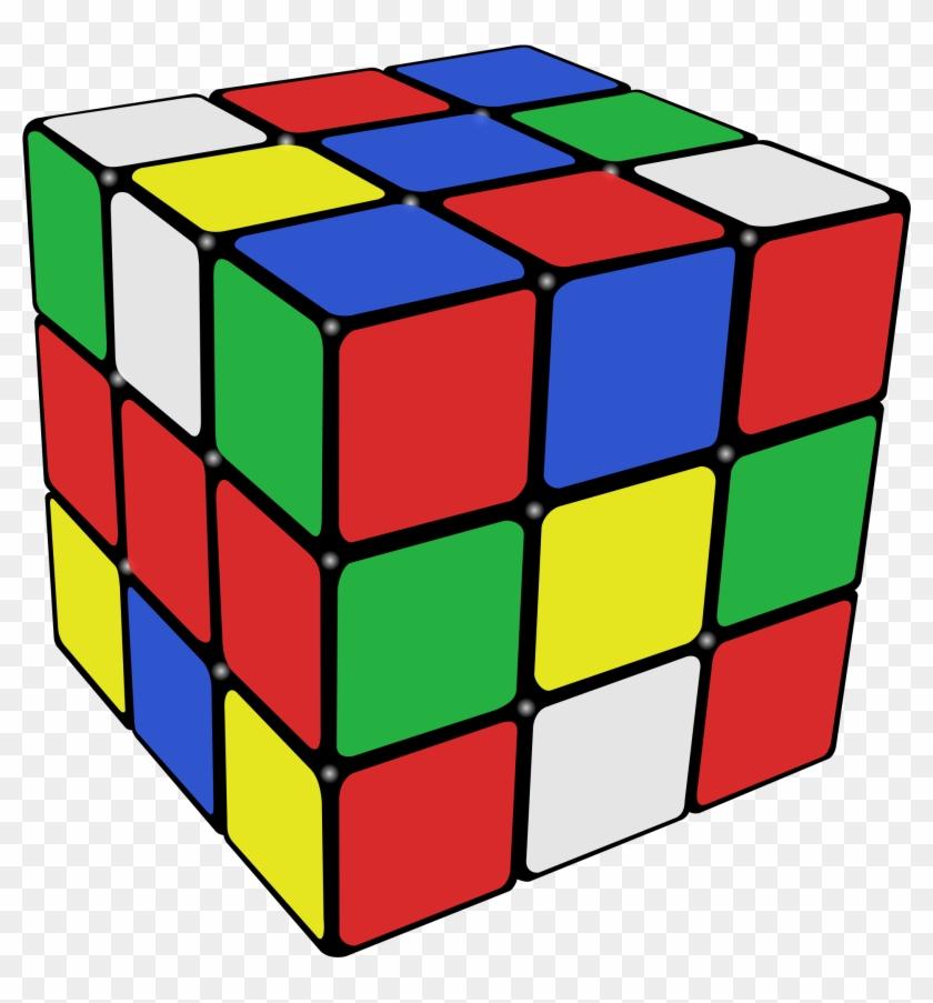 Cube Clipart Link - 80s Rubik's Cube #52666