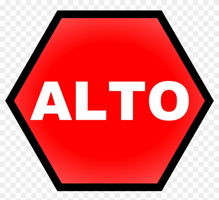 Stop Sign Clipart, Vector Clip Art Online, Royalty - Stop Sign In Spanish #52939