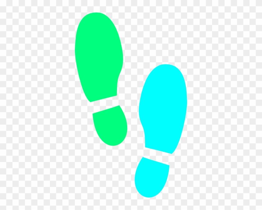 Shoe Print Svg Clip Arts 360 X 594 Px - Clip Art Foot Prints #52956