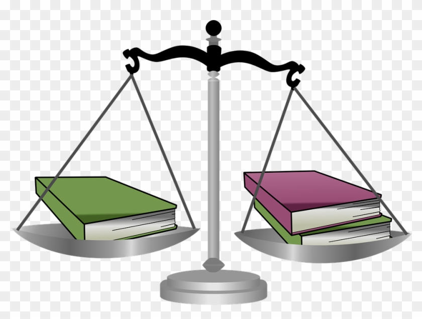 Scale Weigh Judge Books Equial Balance Justice - Weighted Classes #53024