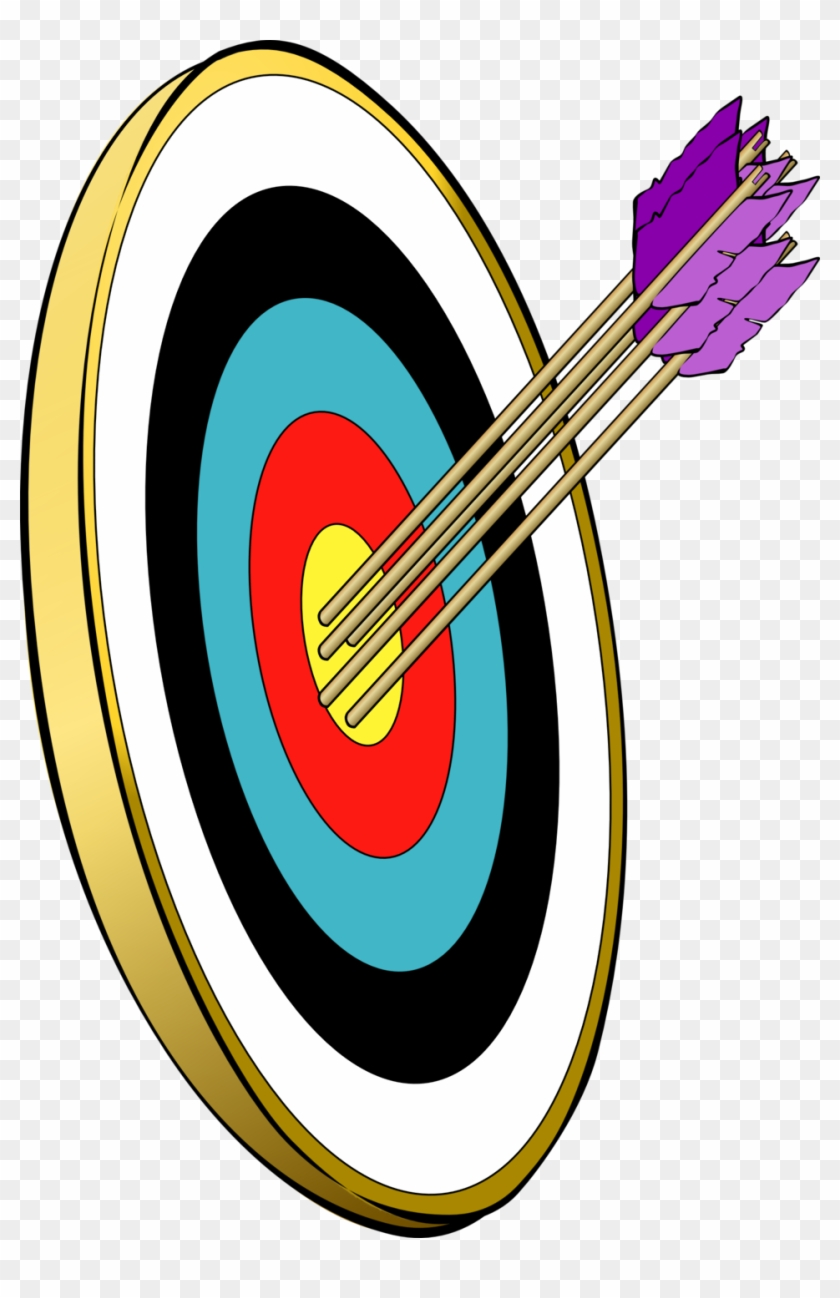 Arrows And Target - Bow And Arrow Clip Art #53066