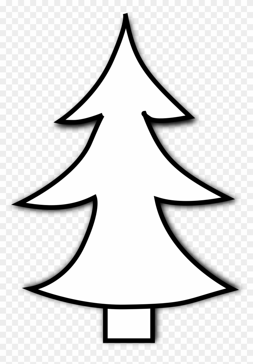 Tree Black And White Christmas Tree Clipart Black And - Line Drawing Of Christmas Tree #270808