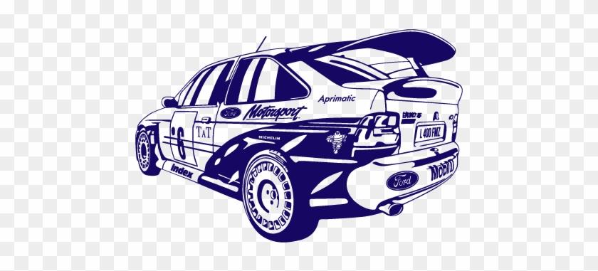 Vinilo Decorativo Deportivo Rally Escort Cosworth - Ford Escort Cosworth Art #270934