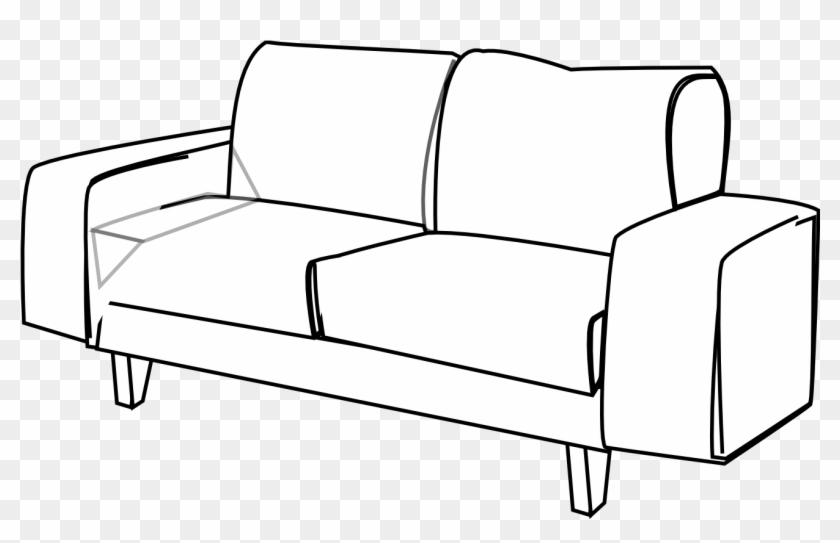 Sofa Clipart Black And White 271033
