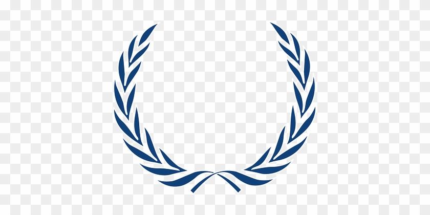 Laurel Wreath Laurels Leaves Honor Blue Hi - Ancient History In 50 Events: From Ancient Civilizations #271178