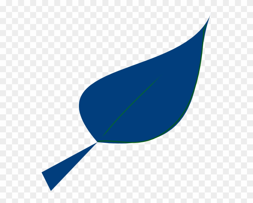 Blue Leaf Svg Clip Arts 564 X 595 Px - Blue Leaf Clip Art #271180