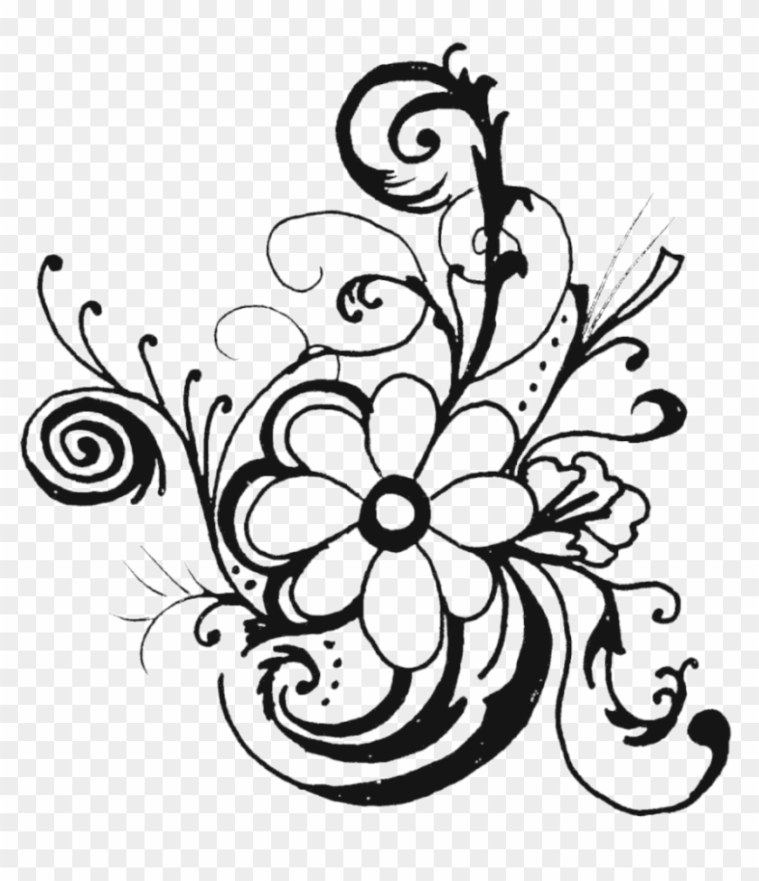 Clip Art Of Flowers - Wedding Flowers Clip Art Black And White #271235