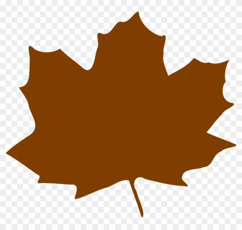 Maple Leaf Clipart Graphic - Brown Fall Leaf Clip Art #271329