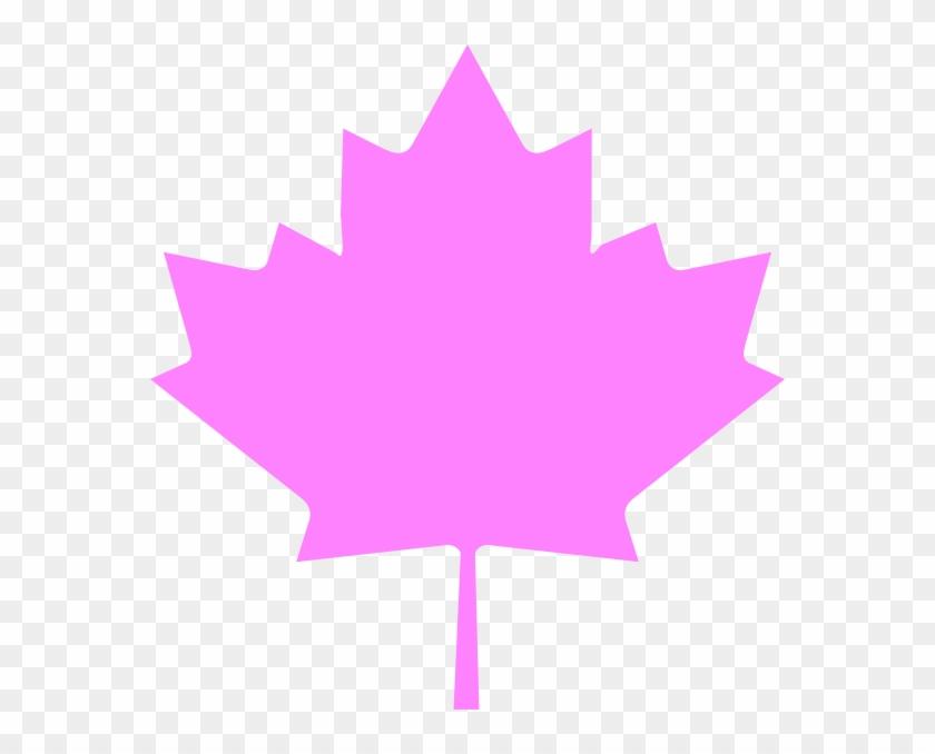 Leaf Clipart Pink Leaves - Canadian Maple Leaf #271347