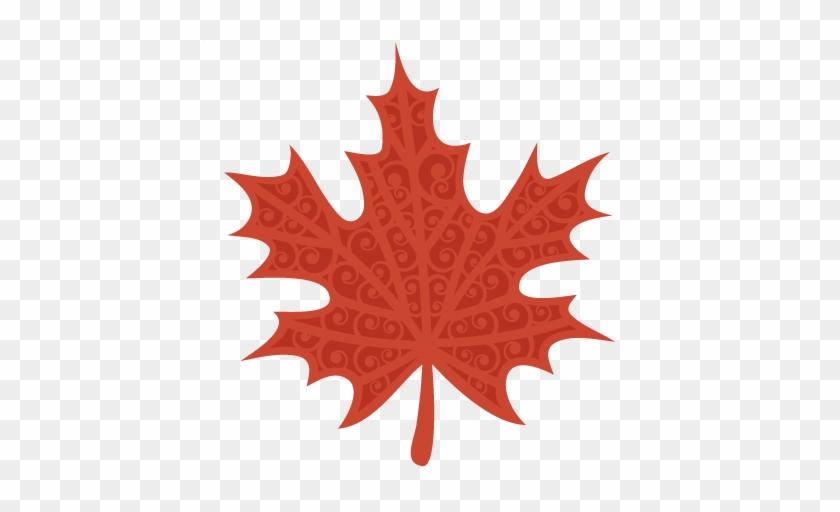 Fall Swirl Leaf Svg Scrapbook Cut File Cute Clipart - Maple Leaf Clipart #271387