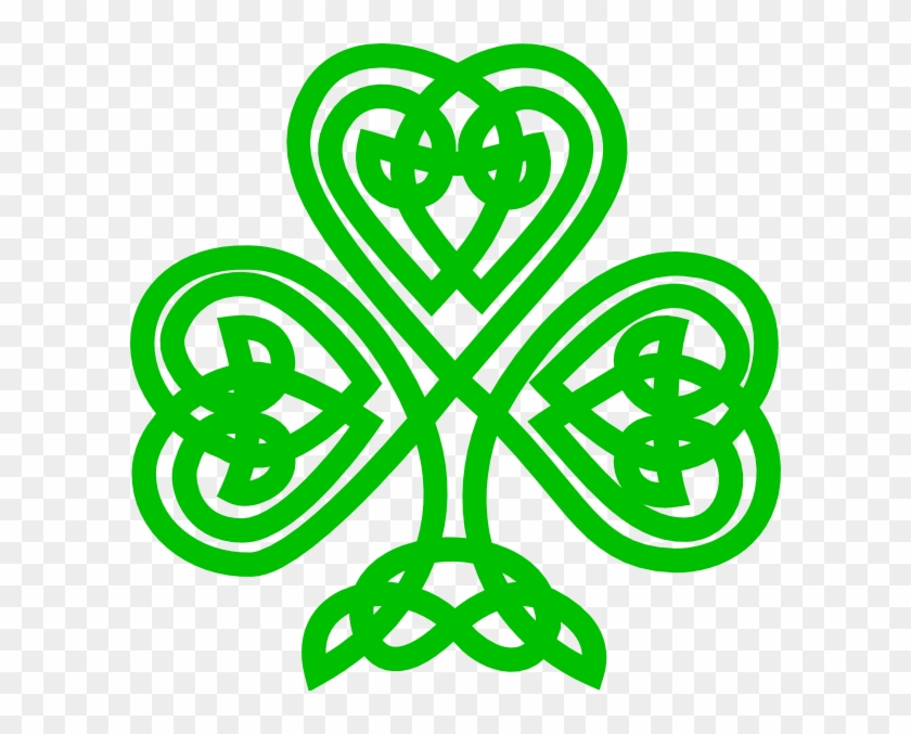 Celtic Shamrock Clip Art At Clker - Celtic Knot Shamrock Clip Art #271505