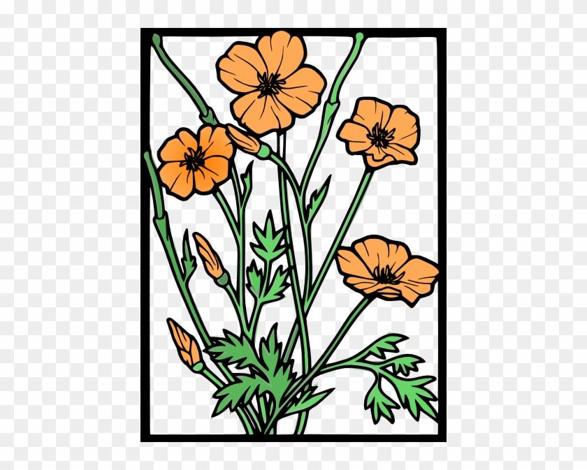 California Poppy Flower Clip Art #271552