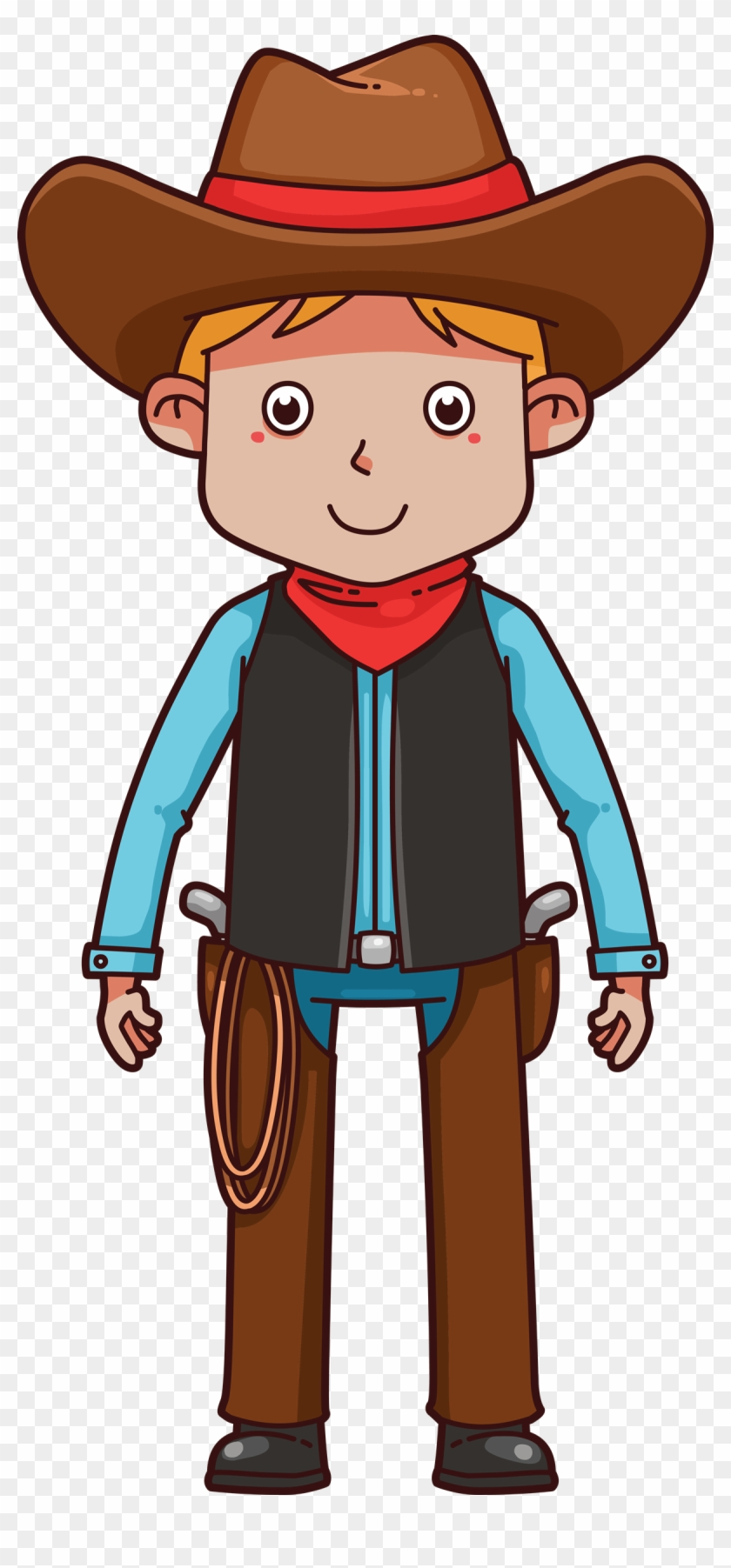 Cowboy Clipart School - Cartoon Cowboy #271592