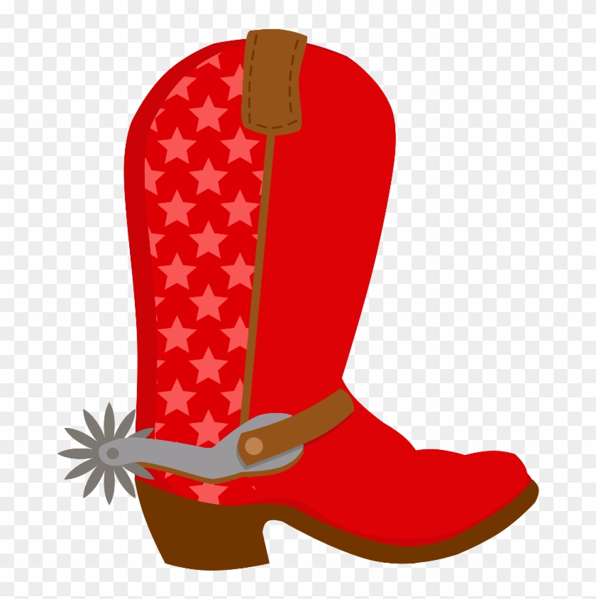 Cowboy E Cowgirl - Red Cowboy Boots Clipart #271608