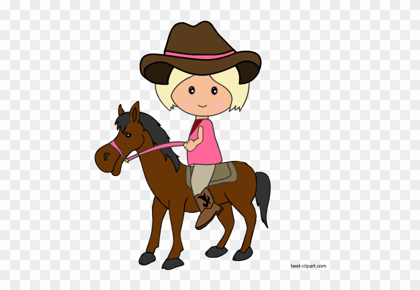 Cowgirl Riding A Horse Free Western Clip Art Image - Cowboy #271618
