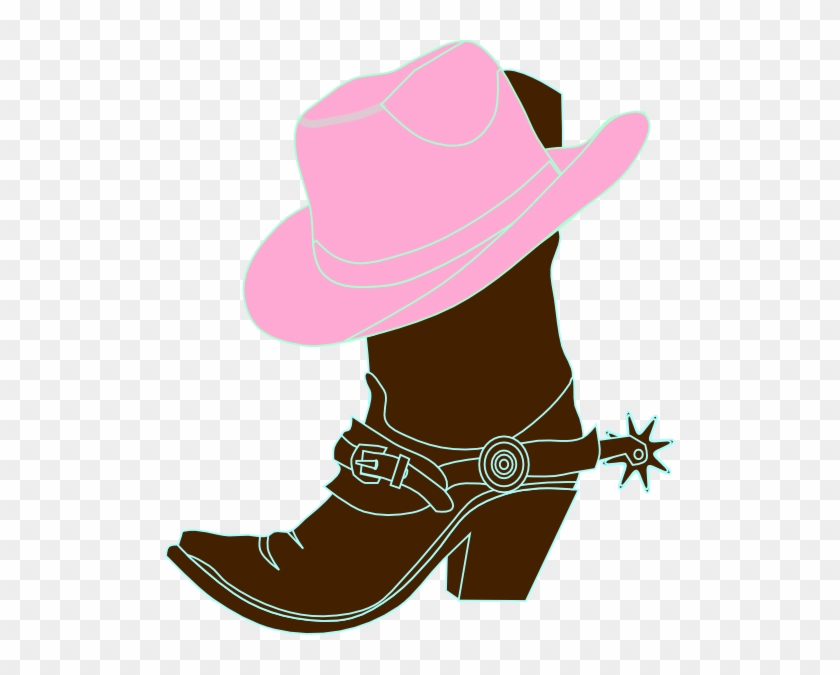 Cowboy Clipart Free Download - Cowgirl Boot And Hat #271643