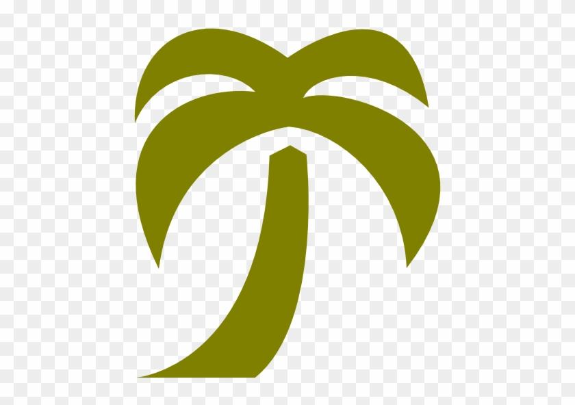 Palm Tree Icon Blue #271758