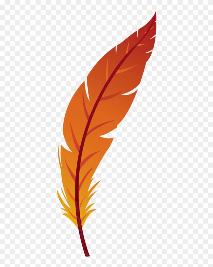 Feather By Pumpkinquartz - Orange Feather Png #271948
