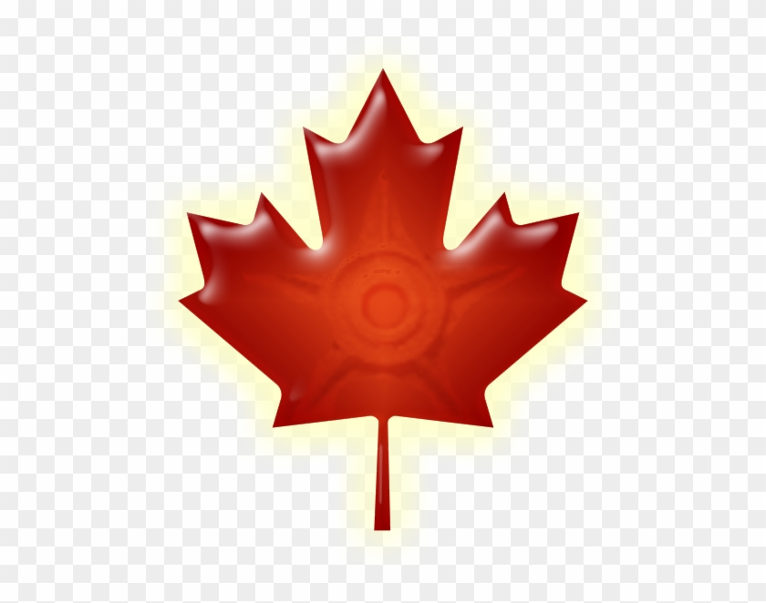 Red Wiki-maple Leaf - American Flag And Canadian Flag #271956