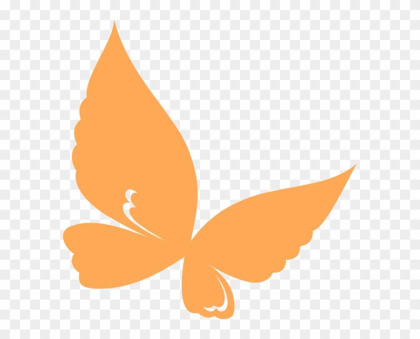 Clipart Orange Butterflies Butterfly Clip Art At Clker - Orange Butterfly Clipart #272012