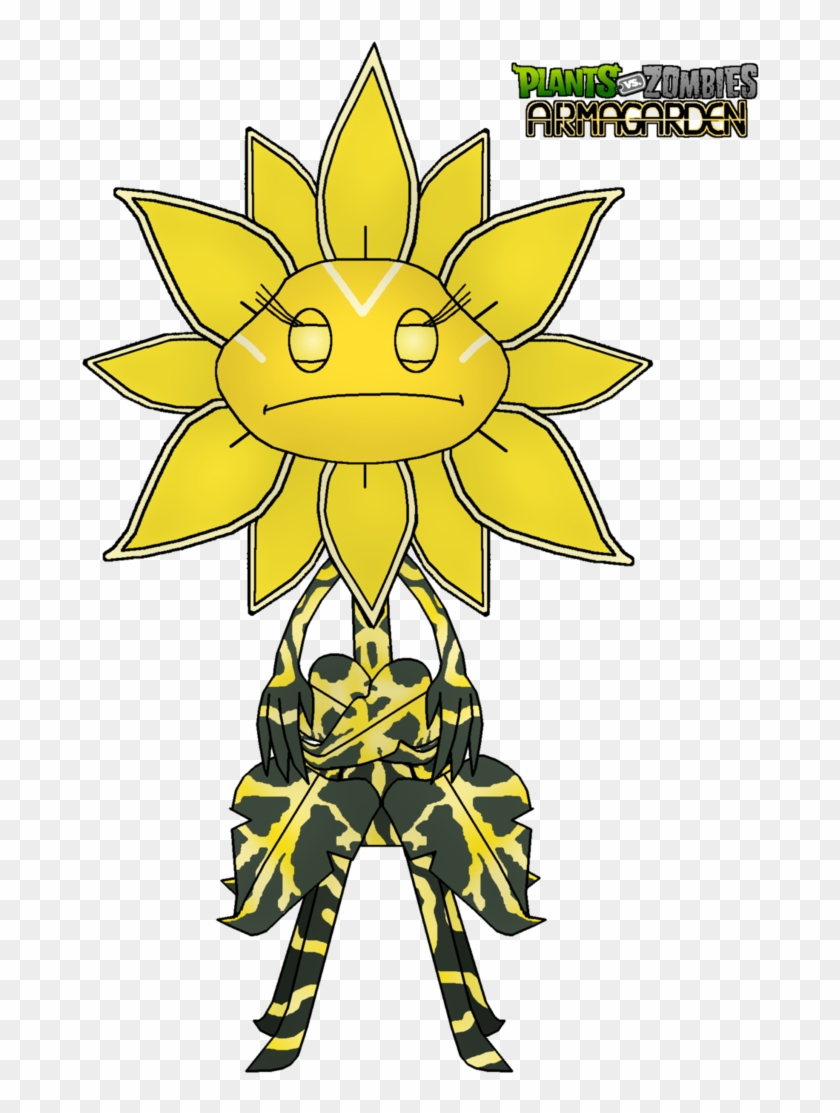 Sunflower Queen Giant Unit By Rose-supreme - Giant Sunflower Plants Vs Zombies #272080