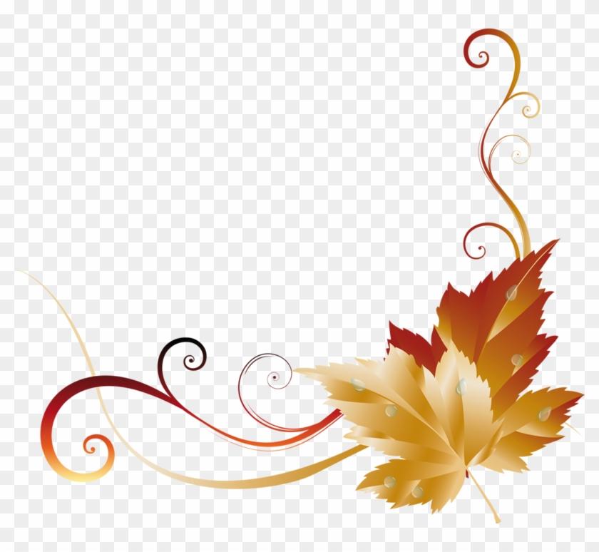 Across Borders - Page - Fall Leaf Corner Border #272174